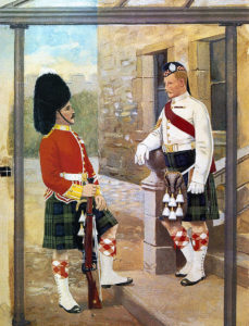 Argyll and Sutherland Highlanders in home service uniform after the war: Battle of Modder River on 28th November 1899 in the Boer War