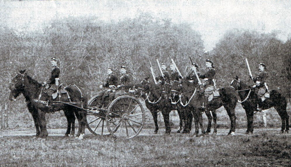 Mounted infantry machine gun detachment in 1899: Battle of Talana Hill on 20th October 1899 in the Boer War