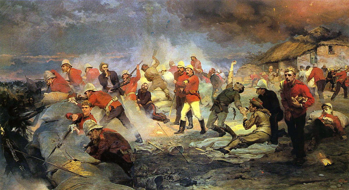 Defence of Rorke's Drift on 22nd January 1879 in the Zulu War: picture by Lady Butler