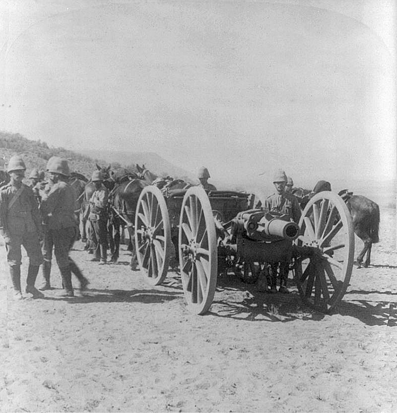 British 5 inch BL howitzer of the type used at the Battle of Magersfontein on 11th December 1899 in the Boer War