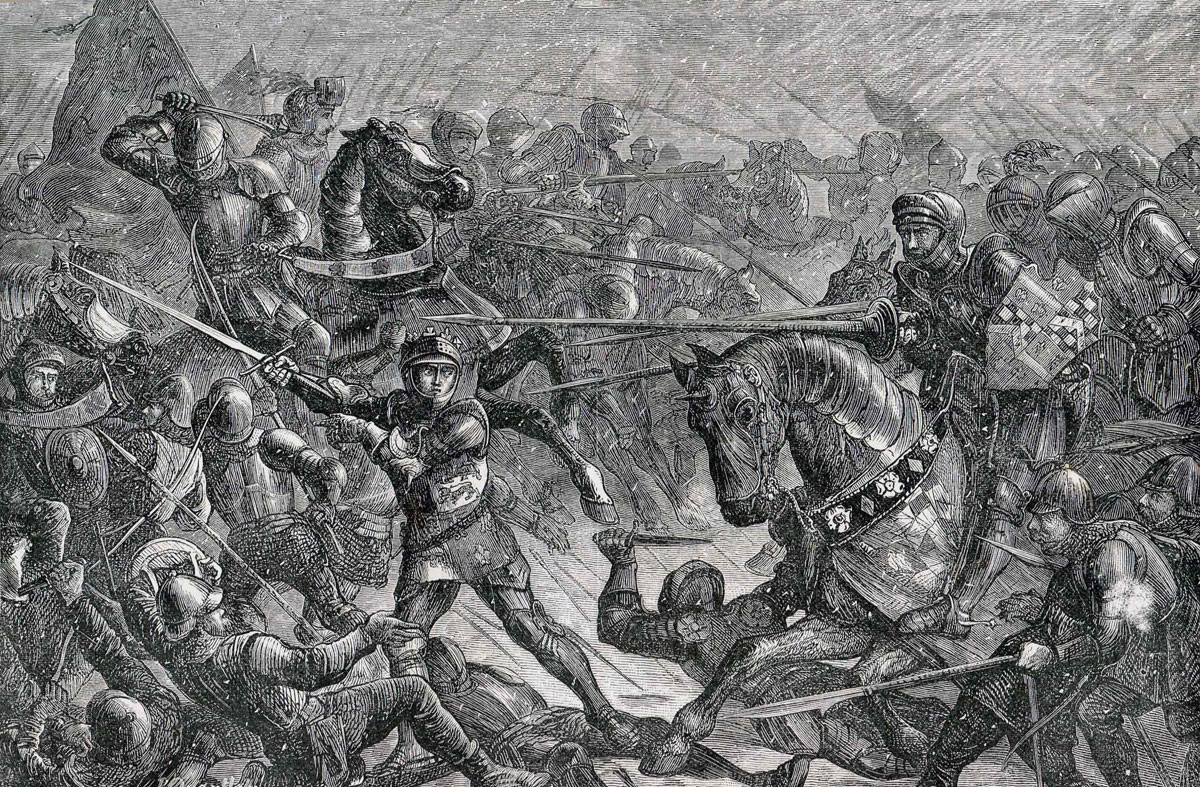 Battle of Bosworth Field on 22nd August 1485 in the Wars of the Roses