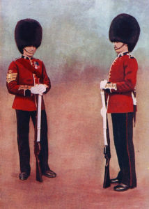 Scots Guards in Home Service uniform: Battle of Belmont 23rd November 1899 in the Great Boer War