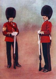 Scots Guards in Home Service uniform: Battle of Belmont 23rd November 1899 in the Great Boer War