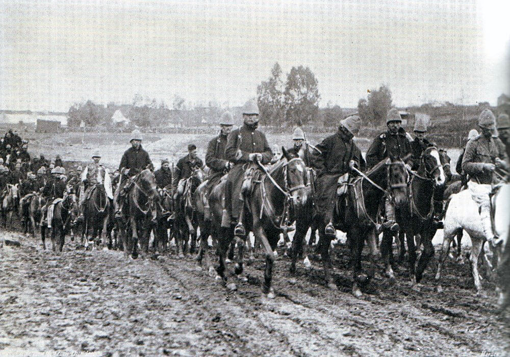 Brigadier General Yule's force retreating from Dundee to Ladysmith 22nd to 26th October 1899 in the Boer War