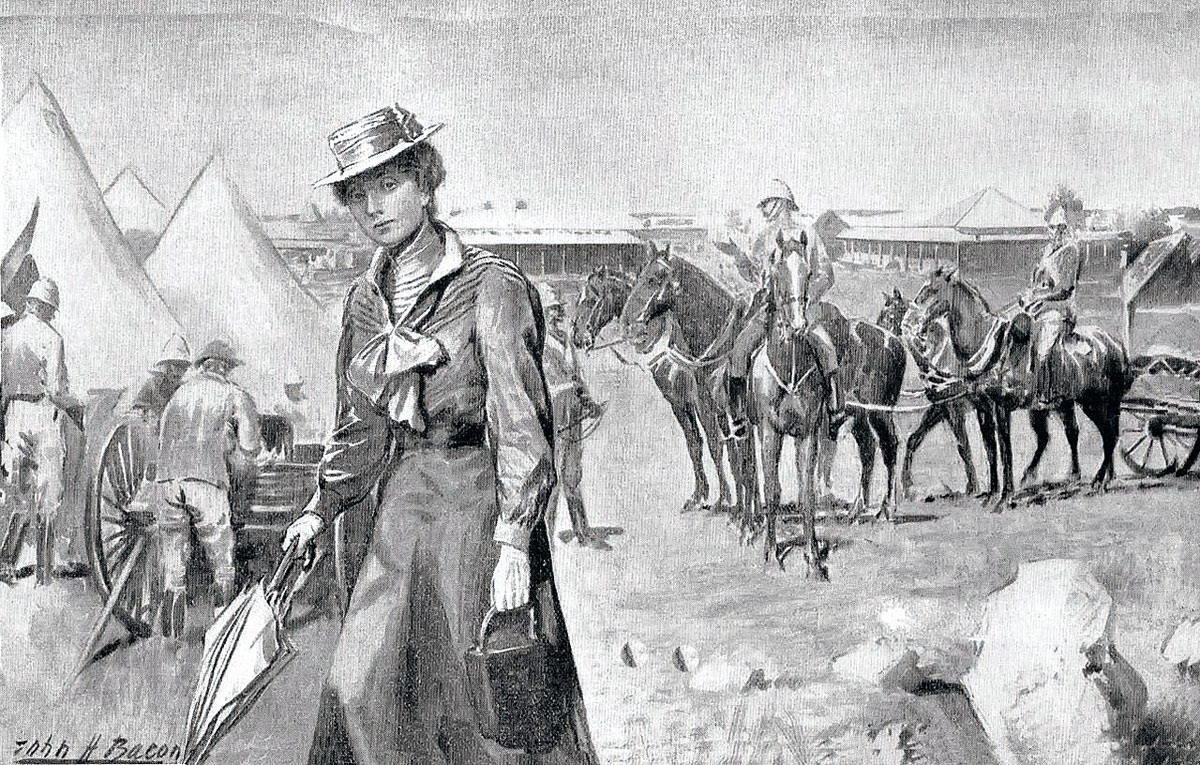 Lady Sarah Wilson: Siege of Mafeking 14th October 1899 to 16th May 1900 in the Great Boer War: picture by John H. Bacon