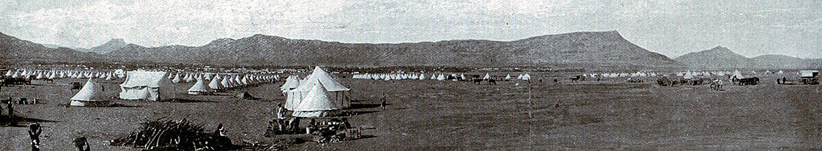General Gatacre's camp at Queenstown prior to the operation leading to the Battle of Stormberg on 9th/10th December 1899 in the Boer War