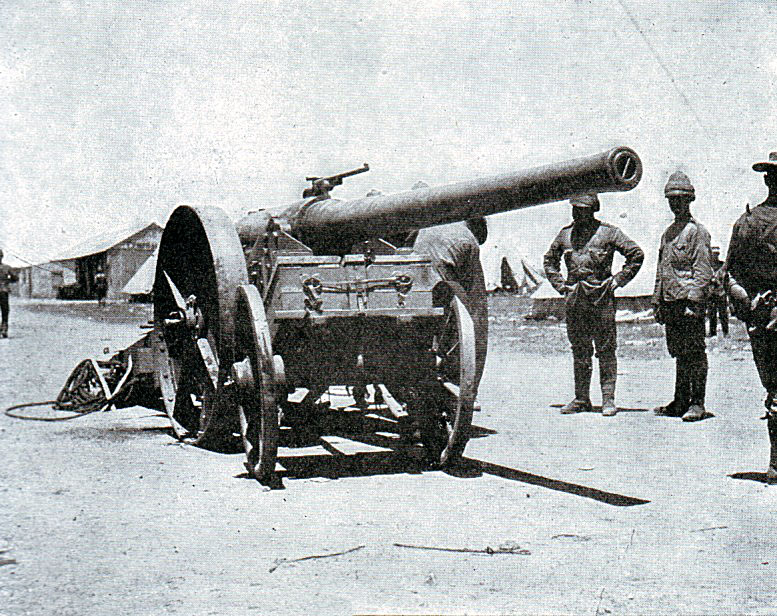 Naval 4.7 inch gun known as 'Joe Chamberlain' used at the Battle of Magersfontein on 10th and 11th December 1899 in the Boer War