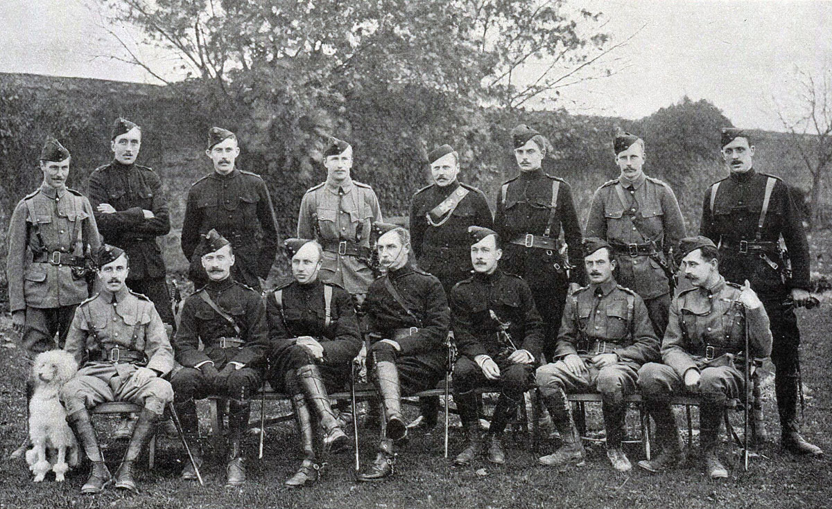 Officers of 3rd King's Royal Rifle Corps: Battle of Spion Kop on 24th January 1900 in the Boer War