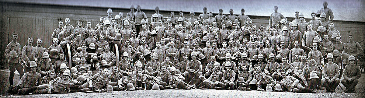 18th Field Battery Royal Field Artillery. The Battery fought at the Battle of Modder River on 28th November 1899 in the Boer War
