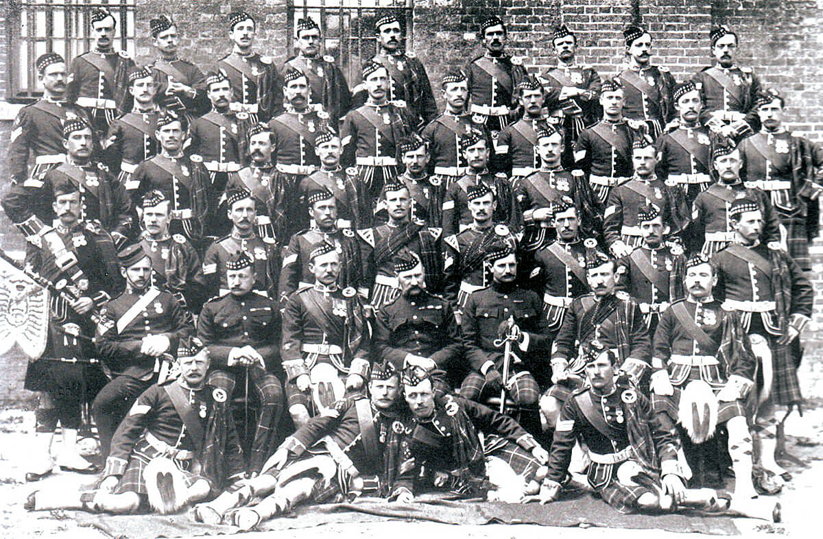 Non-commissioned officers of the 2nd Seaforth Highlanders: many of these soldiers became casualties at the Battle of Magersfontein on 11th December 1899 in the Boer War
