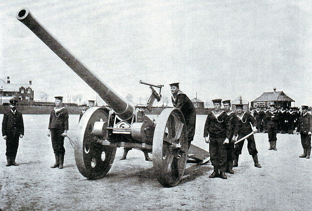 Royal Navy 4.7 inch gun in South Africa: Battle of Spion Kop on 24th January 1900 in the Boer War