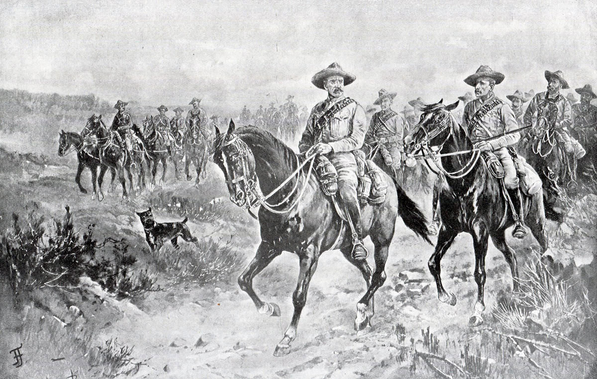 Arrival of Colonel Mahon's relief force: Siege of Mafeking 14th October 1899 to 16th May 1900 in the Great Boer War: picture by Frank Feller