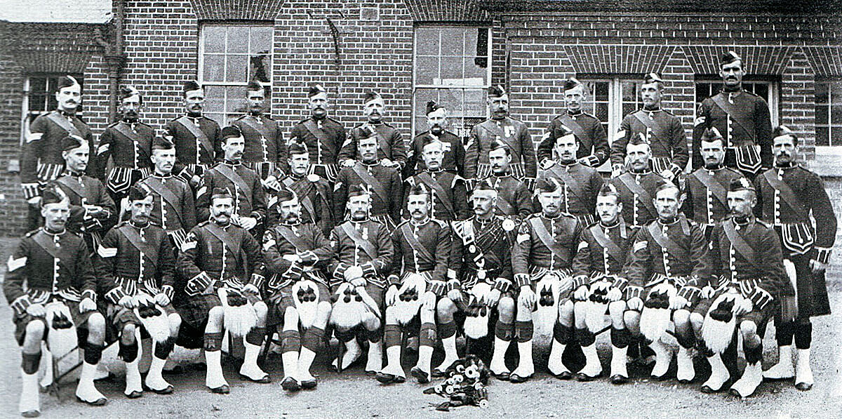 Non-commissioned officers of 2nd Black Watch: many of these soldiers became casualties at the Battle of Magersfontein on 11th December 1899 in the Boer War