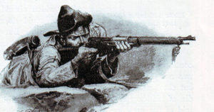 Boer rifleman in the Boer War