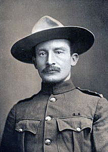 Colonel Robert Baden-Powell, British Commander at the Siege of Mafeking 14th October 1899 to 16th May 1900 in the Great Boer War