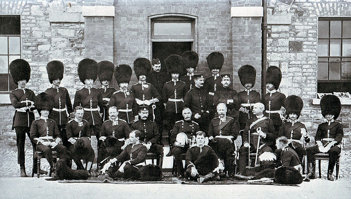 Officers of the 1st Coldstream Guards. The Battalion fought at Belmont, Graspan, Modder River and Magersfontein in 1899 in the Boer War