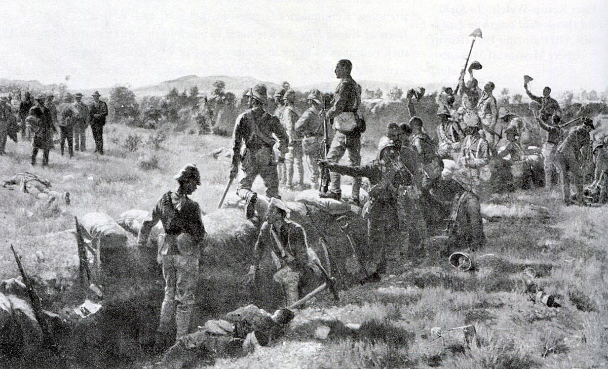 Victors of the Battle of Paardeberg on 27th February 1900 in the Great Boer War: picture by James Princip Beadle