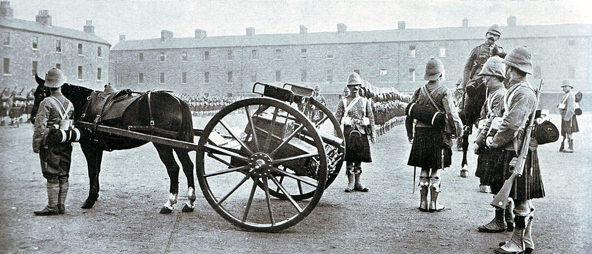 1st Argyll and Sutherland Highlanders, the old 91st, in Britain before leaving for South Africa and taking part in the Battle of Modder River on 28th November 1899 in the Boer War