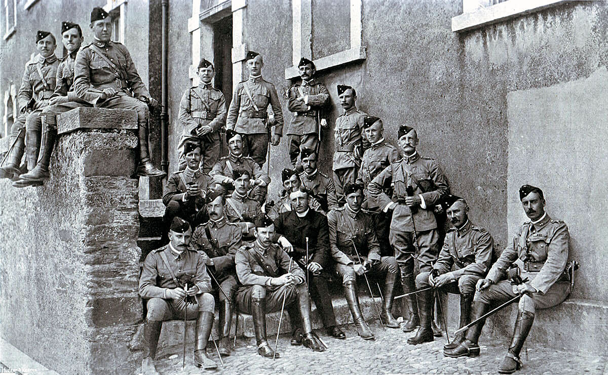 Officers of 1st Royal Munster Fusiliers before leaving for South Africa: Battle of Graspan on 25th November 1899 in the Great Boer War
