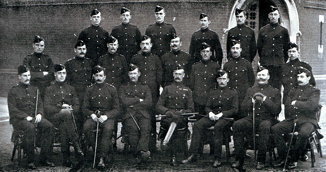 Officers of 2nd Northumberland Fusiliers, one of General Gatacre's two infantry battalions at the Battle of Stormberg on 9th/10th December 1899 in the Boer War