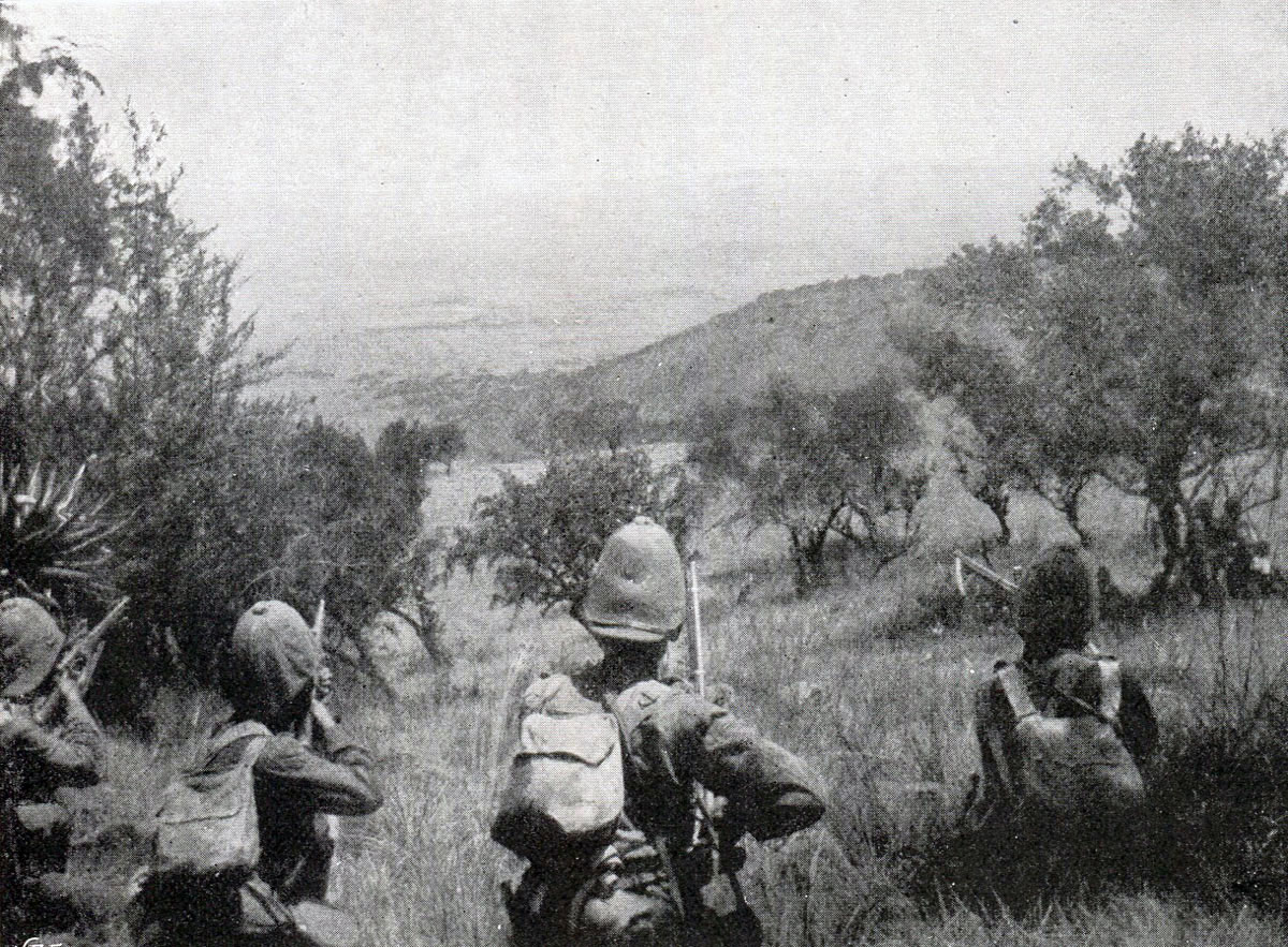 West Yorkshire Regiment on Monte Cristo: Battle of Pieters, fought from 14th February 1900 in the Great Boer War
