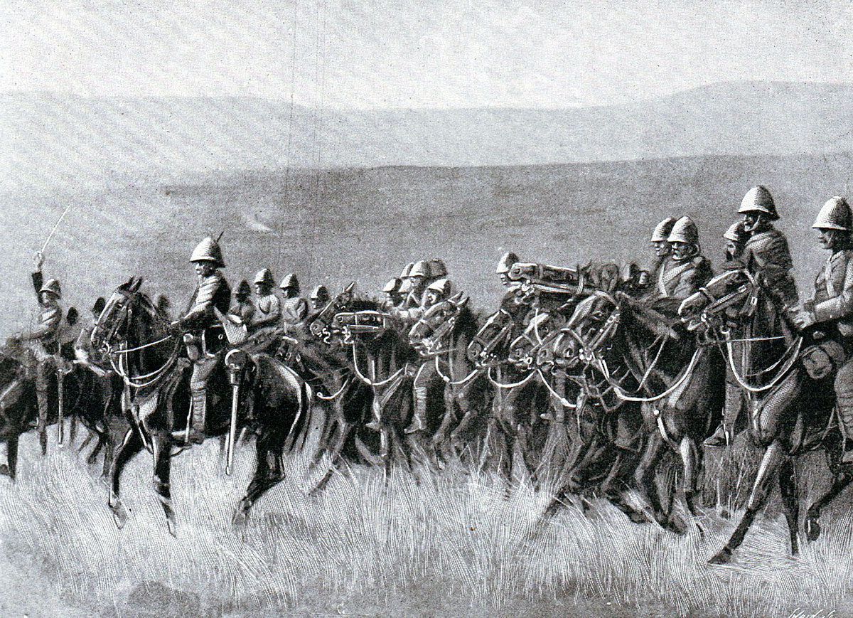 Dundonald's Cavalry on the way to Potgieter's Drift before the Battle of Spion Kop on 24th January 1900 in the Boer War
