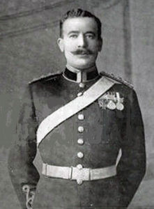 Captain John Norwood, 5th Dragoon Guards, who won the Victoria Cross at the Battle of Ladysmith or Lombard's Kop on 30th October 1899 in the Boer War as a second lieutenant. Norwood was killed on 8th September 1914 in France