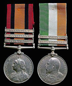 Queen's South Africa Medal with clasp for 'Paardeberg' and King's South Africa Medal: Battle of Paardeberg on 27th February 1900 in the Great Boer War