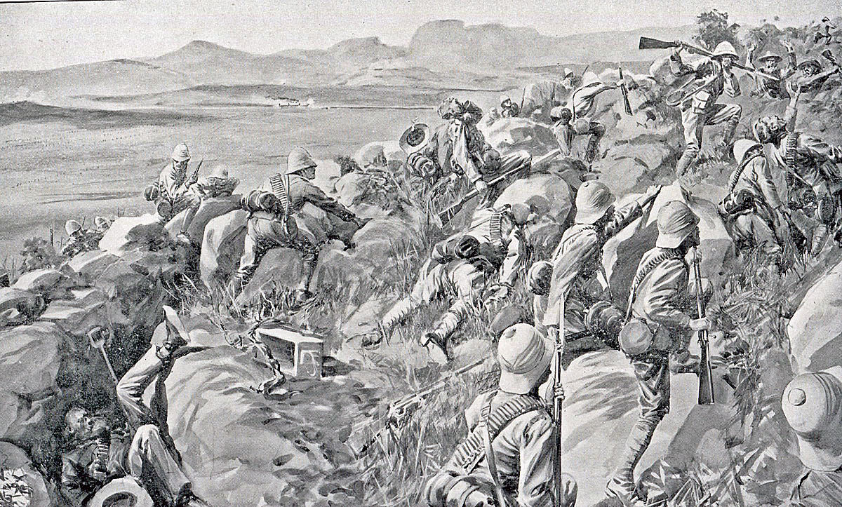 Last rush at Hlangwane Hill: Battle of Pieters, fought from 14th February 1900 in the Great Boer War