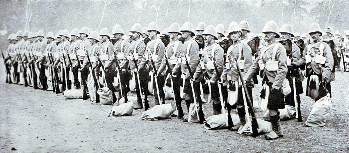 2nd Black Watch in Britain before leaving for South Africa, many of these soldiers became casualties at the Battle of Magersfontein on 11th December 1899 in the Boer War