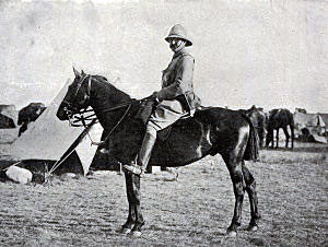 Colonel Thorneycroft who commanded the troops on Spion Kop: Battle of Spion Kop on 24th January 1900 in the Great Boer War