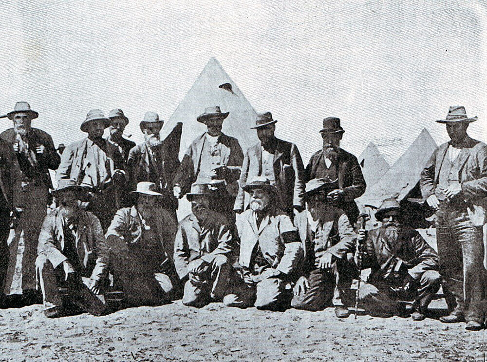 General Cronje's commanders at the Battle of Modder River on 28th November 1899 in the Boer War