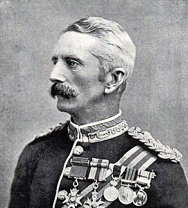 Major General Woodgate killed at the Battle of Spion Kop on 24th January 1900 in the Boer War