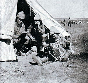 British drummer boy writing home: Battle of Graspan on 25th November 1899 in the Great Boer War