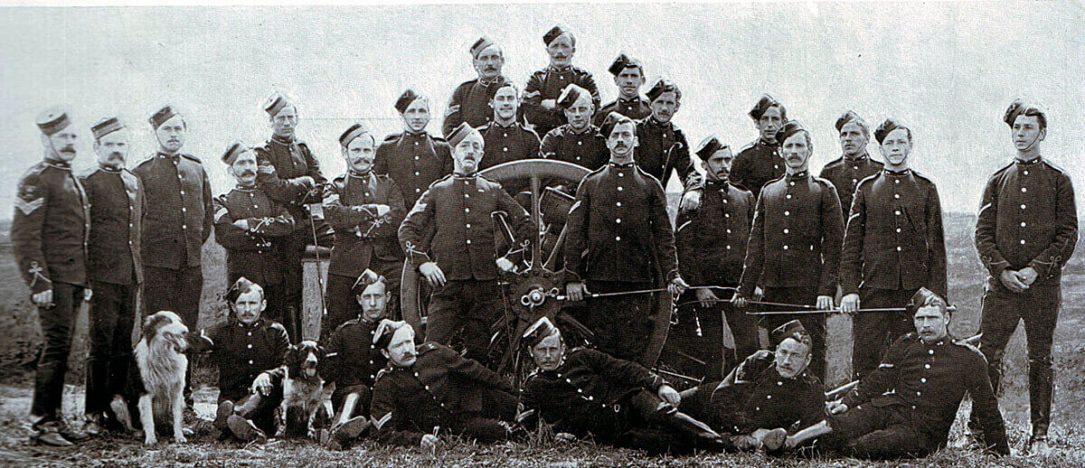 Non-commissioned officers of 77th Field Battery Royal Field Artillery, one of Gatacre's batteries at the Battle of Stormberg on 9th/10th December 1899 in the Boer War