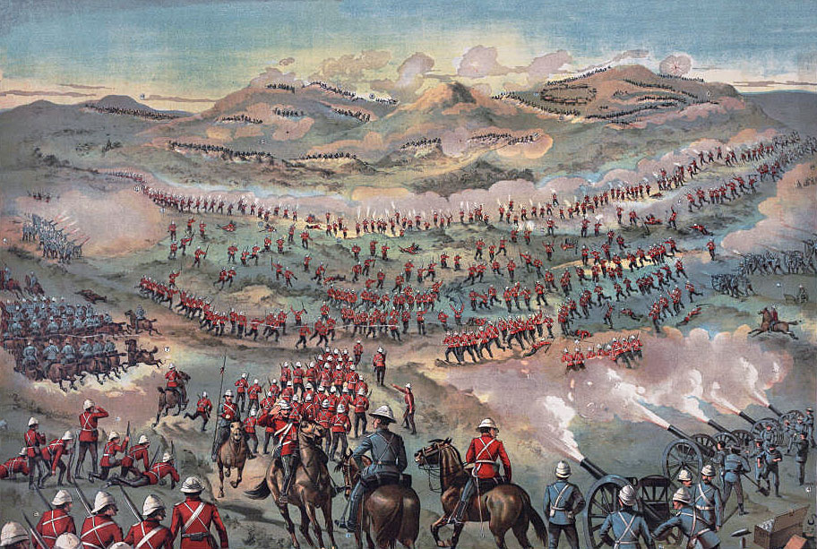 Battle of Belmont on 23rd November 1899 in the Great Boer War: an 'imaginative' contemporary illustration