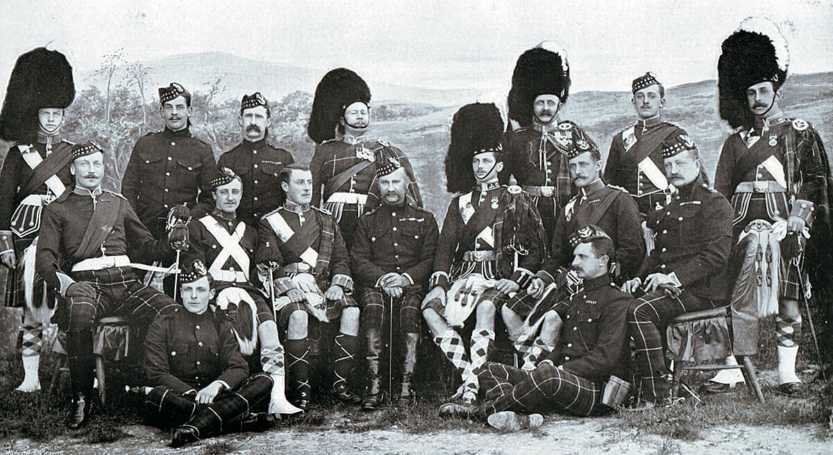 Officers of 2nd Seaforth Highlanders, one of the battalions of the Highland Brigade at the Battle of Magersfontein on 11th December 1899 in the Boer War