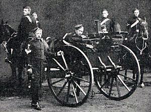 10th Hussars Nordenfeldt Gun detachment: Battle of Paardeberg on 27th February 1900 in the Great Boer War