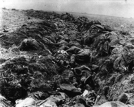 The area at the top of Spion Kop called 'Murderous Acre' after the Battle of Spion Kop on 24th January 1900 in the Boer War