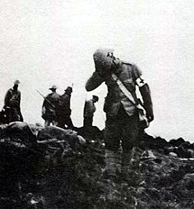 Searching for casualties after the Battle of Spion Kop on 24th January 1900 in the Boer War