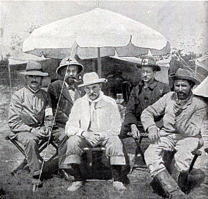 Boer medical staff at the Battle of Spion Kop on 24th January 1900 in the Boer War