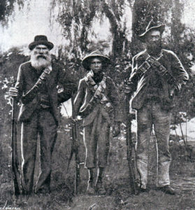 Three generations of a Boer family in arms against the British: Battle of Graspan on 25th November 1899 in the Great Boer War
