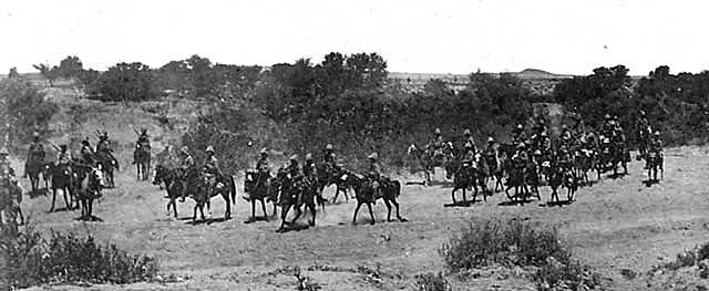 16th Lancers at the Battle of Paardeberg on 27th February 1900 in the Great Boer War