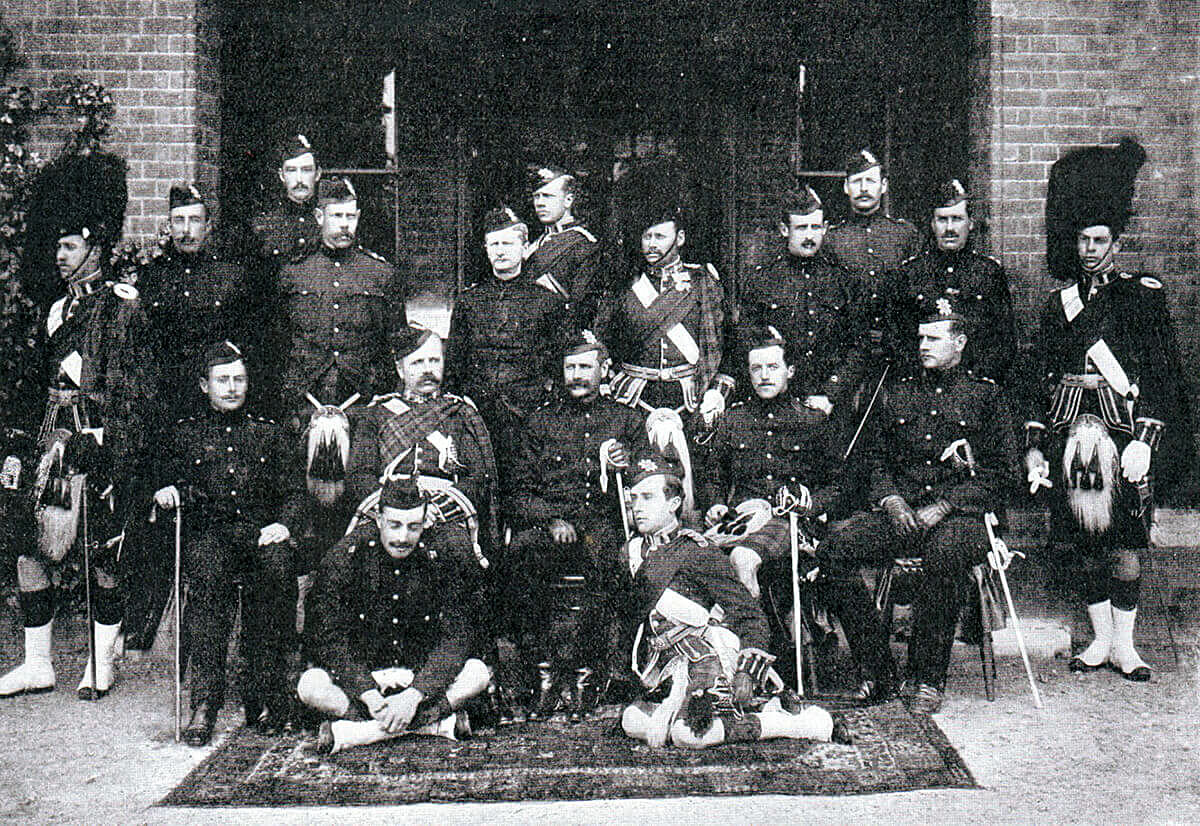 Officers of 2nd Black Watch in 1899: of these officers six were killed and one was wounded in the Battle of Magersfontein on 11th December 1899 in the Boer War
