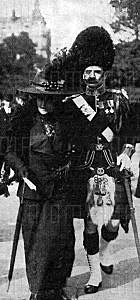 Captain Ernest Beachcroft Towse 1st Gordon Highlanders accompanied by his morther on the occasion of his award of the Victoria Cross for his conduct at the Battle of Magersfontein on 11th December 1899 in the Boer War