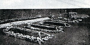 Graves of Highlanders killed at the Battle of Magersfontein on 11th December 1899 in the Boer War