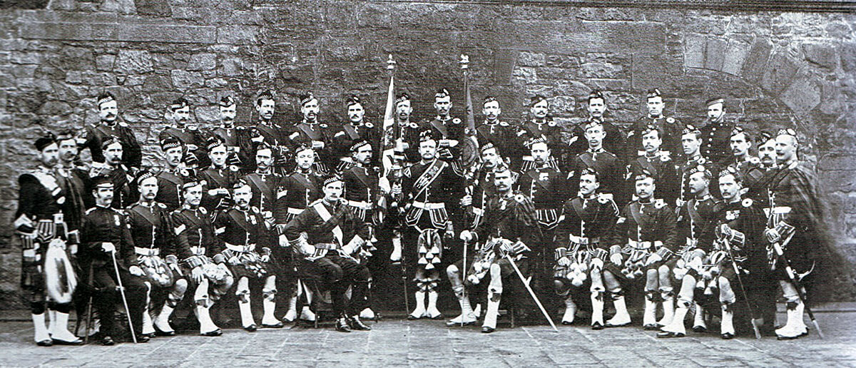 Non-commissioned officers of the 1st Argyll and Sutherland Highlanders, one of the battalions of the Highland Brigade at the Battle of Magersfontein on 11th December 1899 in the Boer War