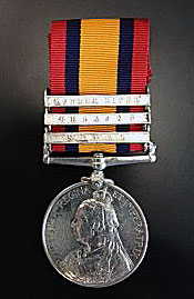 Queen's South Africa Medal with clasps for 'Natal' 'Belmont' and 'Modder River': Battle of Magersfontein on 11th December 1899 in the Boer War