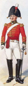 Officer of 5th Dragoon Guards: Battle of Villagarcia on 11th April 1812 in the Peninsular War:picture by Richard Simkin