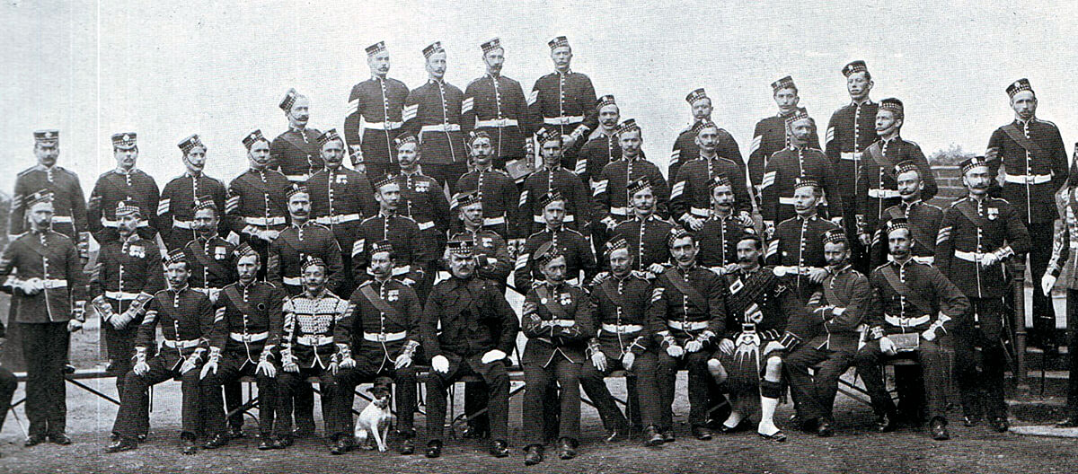 1st Scots Guards non-commissioned officers. The Battalion fought at Belmont, Graspan, Modder River and Magersfontein in 1899 in the Boer War